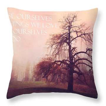 Throw Pillow featuring the photograph We Loose Ourselves by Sylvia Cook