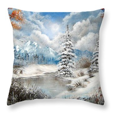 We Lost The Road Throw Pillow by Patrice Torrillo