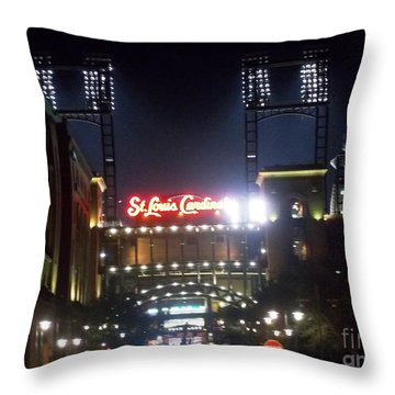 Throw Pillow featuring the photograph We Love Our Redbirds by Kelly Awad