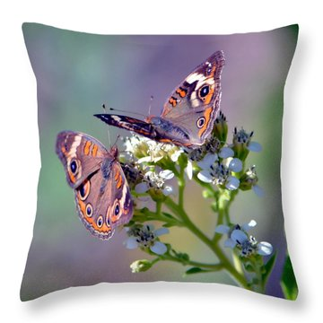 Throw Pillow featuring the photograph We Make A Beautiful Pair by Deena Stoddard