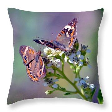 We Make A Beautiful Pair Throw Pillow by Deena Stoddard