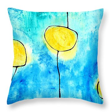 We Make A Family - Abstract Art By Sharon Cummings Throw Pillow by Sharon Cummings