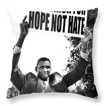 We March For Hope Not Hate Throw Pillow