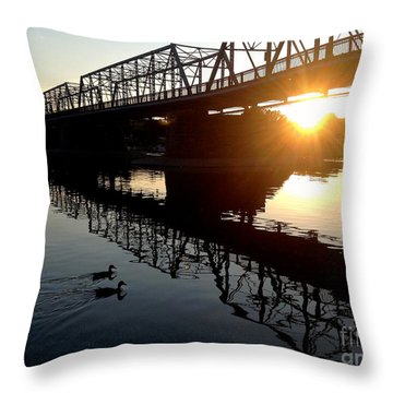 We Move Into The Light - 3 Throw Pillow