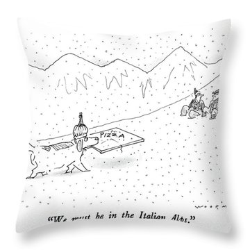 We Must Be In The Italian Alps Throw Pillow