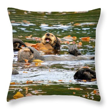 We Otter Be In Pictures Throw Pillow