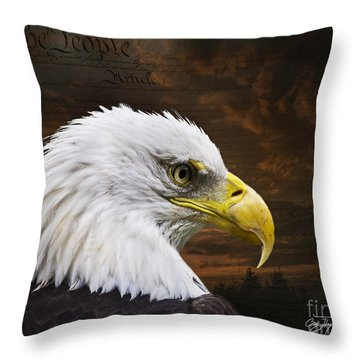 We The People Throw Pillow by Cris Hayes