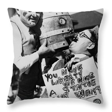 We Want The Beer Throw Pillow