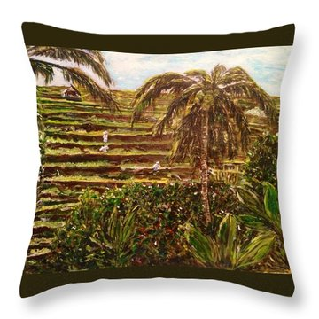 We Work Hard For The Money Throw Pillow