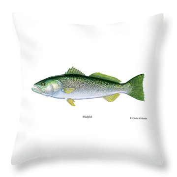 Weakfish Throw Pillow