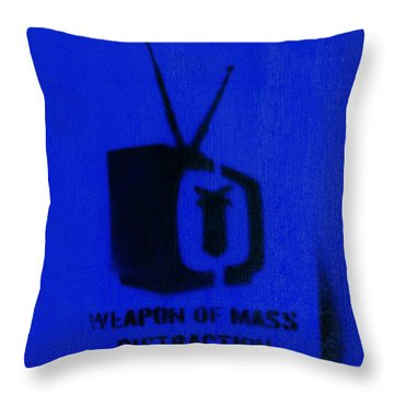 Weapon Of Mass Distraction Throw Pillow by A Rey
