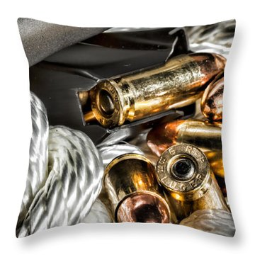 Weapons Cache Revealed Throw Pillow by Lawrence Burry