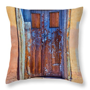 Wear And Tear Throw Pillow by Barbara Manis