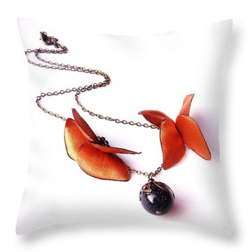 Wearable Art . Never Ending Love . One Of A Kind Necklace Throw Pillow by Marianna Mills