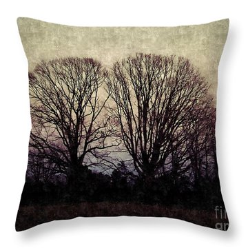 Weary Winter Throw Pillow