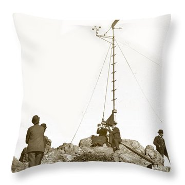 Throw Pillow featuring the photograph Weather Station Mount Tamalpais Marin County California Circa 1902 by California Views Mr Pat Hathaway Archives