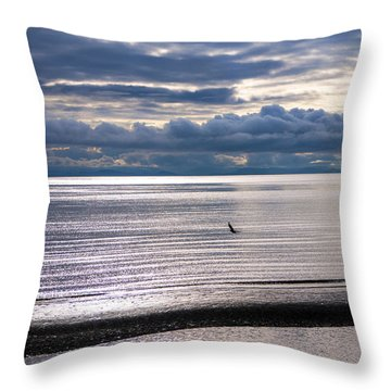 Throw Pillow featuring the photograph Weather Water Waves by Jordan Blackstone