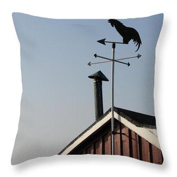 Weathercock Malmo Europe Throw Pillow by Eva Csilla Horvath