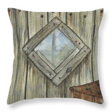 Weathered #1 Throw Pillow