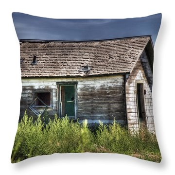 Weathered And Worn Well  Throw Pillow by Saija  Lehtonen