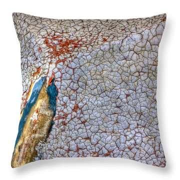 Weathered Boat - Abstract Throw Pillow by Heidi Smith