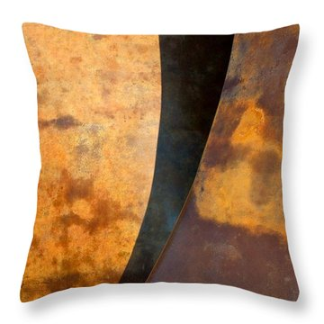 Weathered Bronze Abstract Throw Pillow