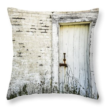 Weathered Door Throw Pillow by Diane Diederich