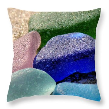 Weathered Glass Throw Pillow