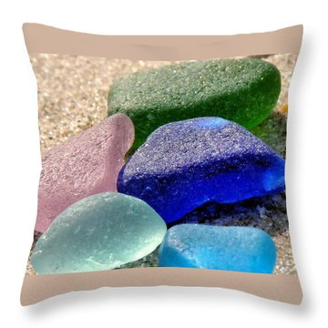 Throw Pillow featuring the photograph Weathered Glass by Janice Drew