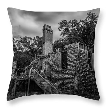 Weathered Home Throw Pillow