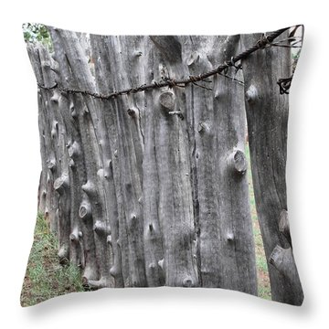 Throw Pillow featuring the photograph Weathered by Natalie Ortiz