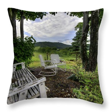Throw Pillow featuring the photograph Weathered Rest by Tim Stanley