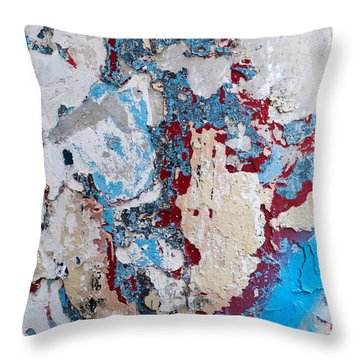 Weathered Wall 02 Throw Pillow
