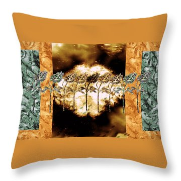 Weathering The Storm Throw Pillow by Sherry Flaker