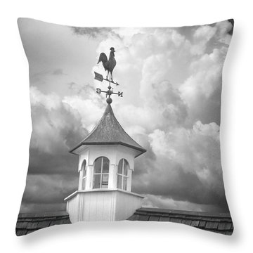 Weathervane And Clouds Throw Pillow