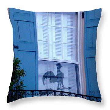 Charleston Weathervane Reflection Throw Pillow by Kathy Barney