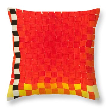 Weave #2 Sunset Weave Throw Pillow