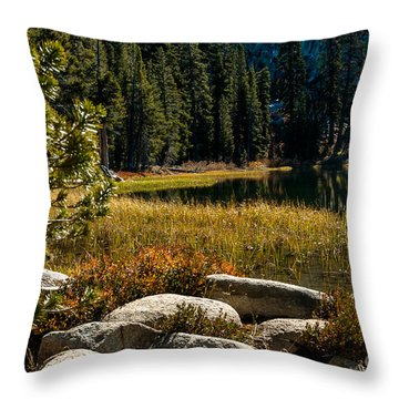 Weaver Lake -1-7682 Throw Pillow