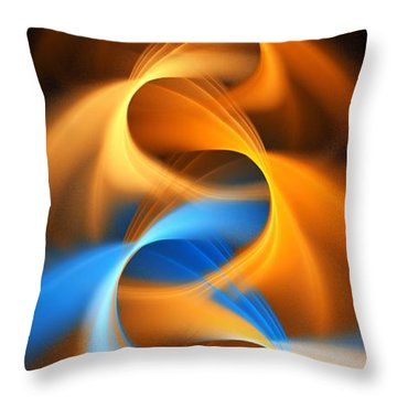 Weaving Color  Throw Pillow by Elizabeth McTaggart