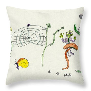 Web Faeries Throw Pillow by Helen Holden-Gladsky