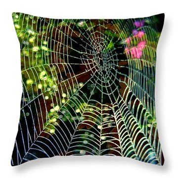 Web Of Entanglement Throw Pillow by Shirley Sirois