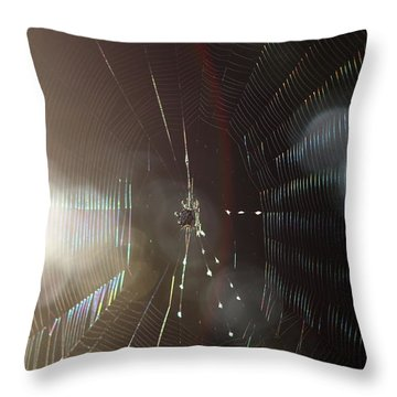 Web Of Flares Throw Pillow