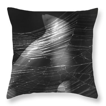 Web Of Legs Throw Pillow