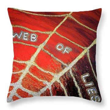 Web Of Lies Throw Pillow