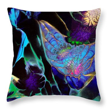 Webbed Galaxy Throw Pillow