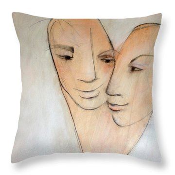 Wed Throw Pillow by Anna Elkins