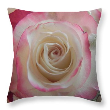 Throw Pillow featuring the photograph Wedding Bouquet by Deb Halloran
