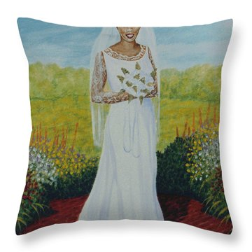 Wedding Day Throw Pillow