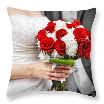Wedding Throw Pillow by Elena Elisseeva