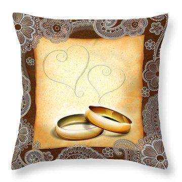 Wedding Memories V1a Classic Throw Pillow by Peter Awax
